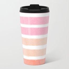 Camil - ombre gradient brushstrokes abstract painting minimalist seaside coastal beach cottage decor Travel Mug