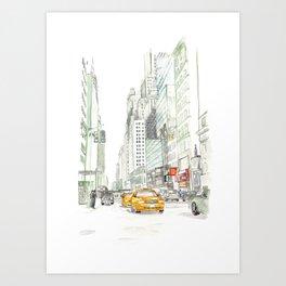 New York City Taxi Kunstdrucke
