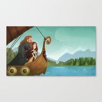 vikings Canvas Prints featuring Vikings by Supergna