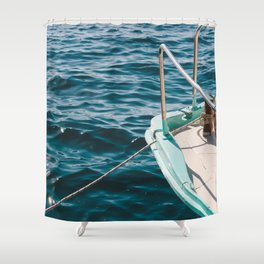 BOAT - WATER - SEA - PHOTOGRAPHY Shower Curtain