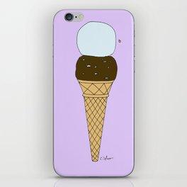 C H O C O L A T E  MARSHMALLOW, B L U E B E R R Y, sugar cone iPhone Skin