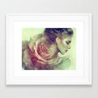kpop Framed Art Prints featuring June by Anna Dittmann