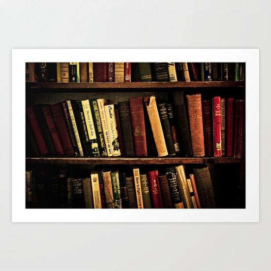 Book Shelf Art Print