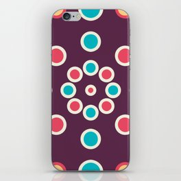 Boho Circle Designs In Purple iPhone Skin