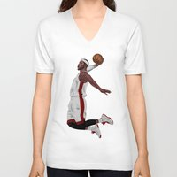 lebron V-neck T-shirts featuring Lebron James by siddick49