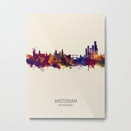 Amsterdam The Netherlands Skyline Metal Print