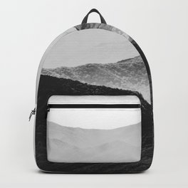 Glimpse - Black and White Mountains Landscape Nature Photography Backpack
