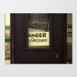 Anger Passing Canvas Print
