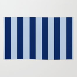 Wide Double Blue Stripes Rug