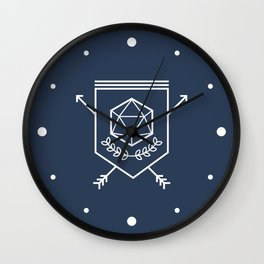 Roleplayer's Crest Wall Clock
