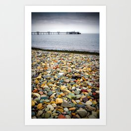 Llandudno Rocks Art Print