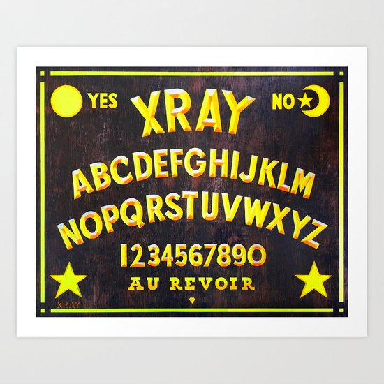 """XRAY SPIRIT BOARD"" Art Print"
