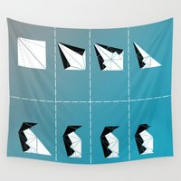 penguin Wall Tapestries featuring PENGUIN by ARCHIGRAF