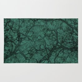 Viridian Green Hunting Camo Pattern Rug