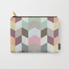 Chevron Pastel Color Combination Carry-All Pouch