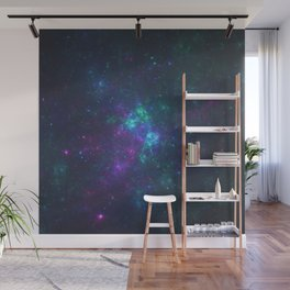 Purple Cluster Galaxy Version 2 Wall Mural