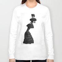 noir Long Sleeve T-shirts featuring noir by 2bWRN