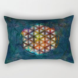 The Flower of Life Symbol Rectangular Pillow