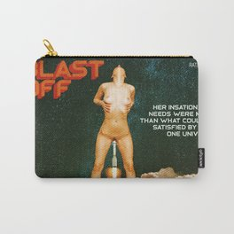 Blast Off - A Quiverish Production - Erotic Collage Art Carry-All Pouch
