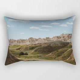 Yellow Mounds - Badlands National Park Rectangular Pillow