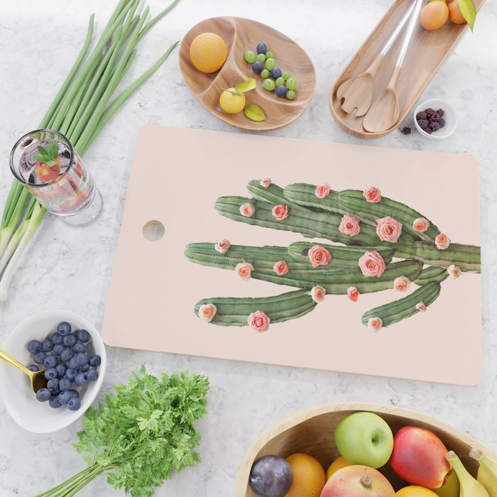 CACTUS AND ROSES Cutting Board