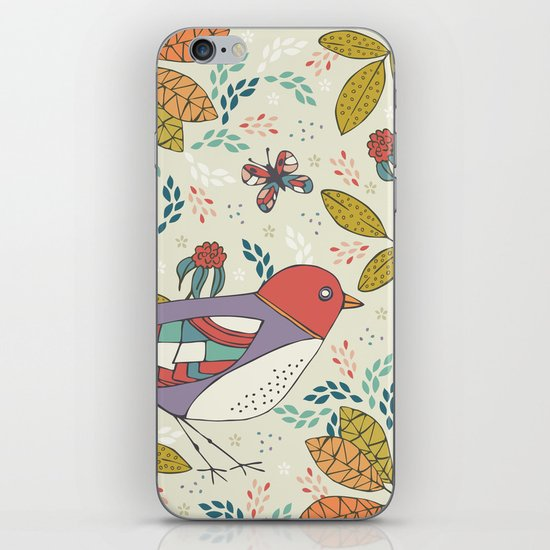 Bird and Butterfly  iPhone Skin