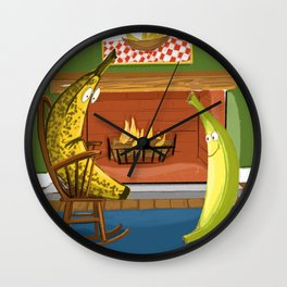 When I was a green banana... Wall Clock