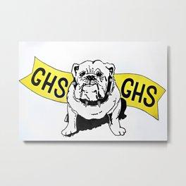 GHS Bulldogs Metal Print