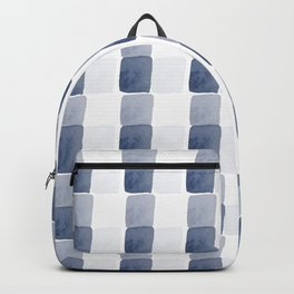 Chambray, abstract square pattern Backpack