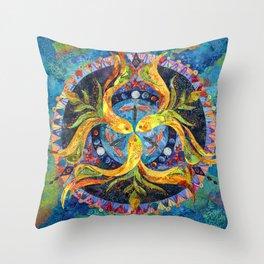 Pond Mandala Throw Pillow
