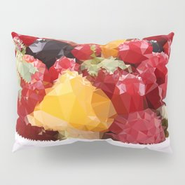Fruits 2 Low Poly Pillow Sham