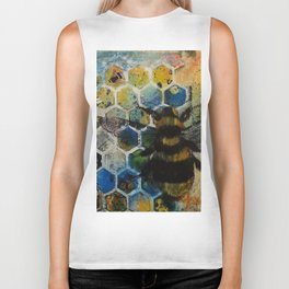 Bee Kind to One Another Biker Tank