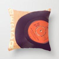 record Throw Pillows featuring Vintage Record  by secretgardenphotography [Nicola]