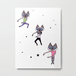 Dance Dance Dance Cat Metal Print