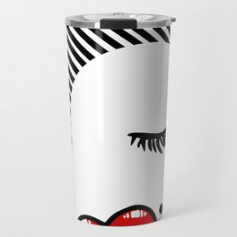 Pucker Kissy Glamour Lips Travel Mug