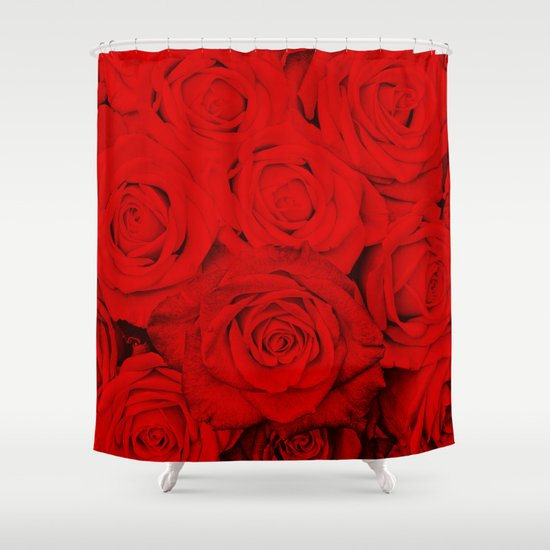 Some People Grumble  Floral Red Rose Roses Flowers Shower Curtain