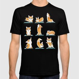 Corgi Yoga Watercolor T-shirt
