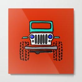Jeep 'Drawing' MINT Metal Print
