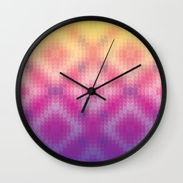 Pink Ombre Geometric Wall Clock
