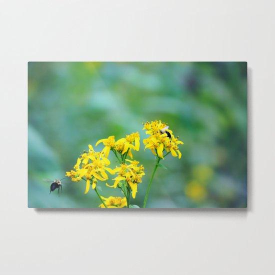 Bee Happy Metal Print