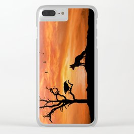 Fox and raven Clear iPhone Case