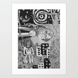 alice's dreams Art Print