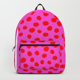Keep me Wild Animal Print - Pink with Red Spots Backpack