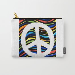 Peace Sign Festival Colorful Design Carry-All Pouch