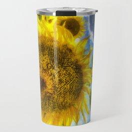 Summers Day Sunflowers Art Travel Mug