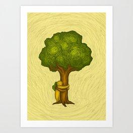 Tree Hugger Art Print