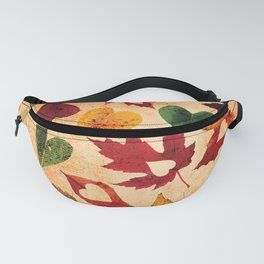 Happy autumn - hearts and leaves pattern Fanny Pack