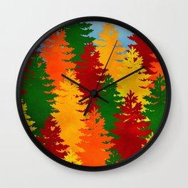 Autumn Trees Wall Clock