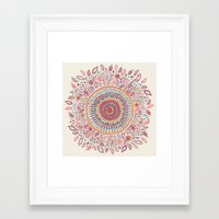 mandala Framed Art Prints featuring Sunflower Mandala by Janet Broxon