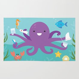 Under the Sea Octopus and Friends Rug